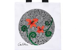 Czerwone kwiaty - torba premium (kolory)