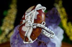 Srebrny pierścionek z jaspisem rozmiar 14