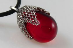 Czerwony w siateczce - wisior mały