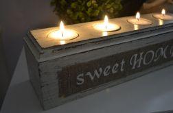 Świecznik sweet HOME krem