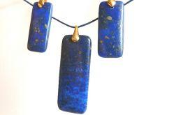 Lapis lazuli i piryt, prostokąty w złocie