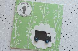 Kartka roczek zielona + koperta