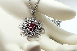 Medalion chainmaille z kryształem Swarovskiego- stal szlachetna 2