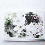 Kartka MOTYWACYJNA - biało-beżowe kwiaty - Kartka Motywacyjna - biało-beżowe kwiaty