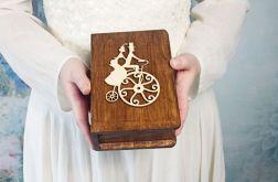 Pudełko na obrączki książka bicykl