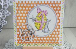 Kartka Wielkanocna z Zajączkami i jajem nr 5