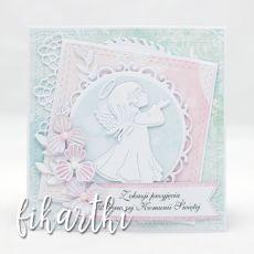 Kartka z aniołkiem na Komunię KK2006