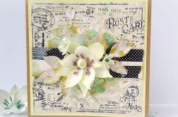 Kartka z kwiatem Post Card cytrynowa