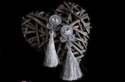 Długie srebrne kolczyki z chwostami sutasz