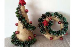 Zestaw Dekoracja choinka + wianek świąteczny