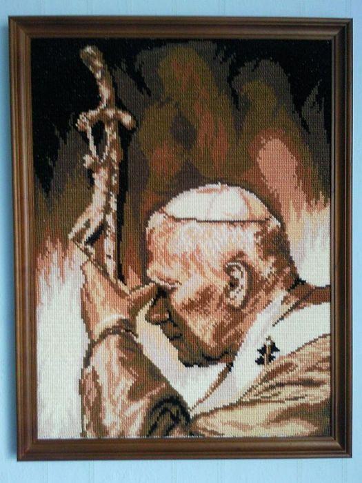 Obraz Papież Jan Paweł Ii Haft Krzyżykowy Nr58 Margolek