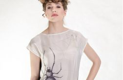Bluzka jedwabna ręcznie malowan - pająk