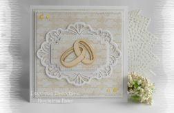 Kartka na ślub z obrączkami