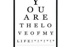 Test Wzroku A4 w Czarnej Ramie