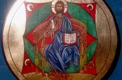 Ikona Chrystus Pantokrator na tronie