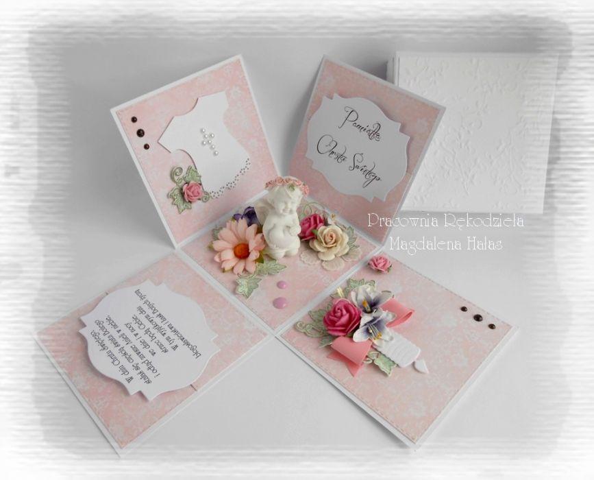 Exploding box róż z aniołkiem #3