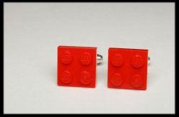 spinki do mankietów lego czerwone