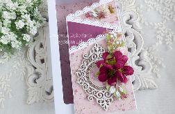 Ślubna kartka kaskadowa w pudełku 467