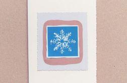 Kartka świąteczna płatek śniegu 19