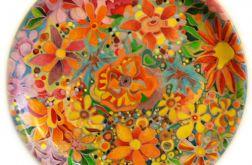 patera ceramiczna, ręcznie malowana