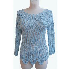 Szydełkowy sweterek na lato