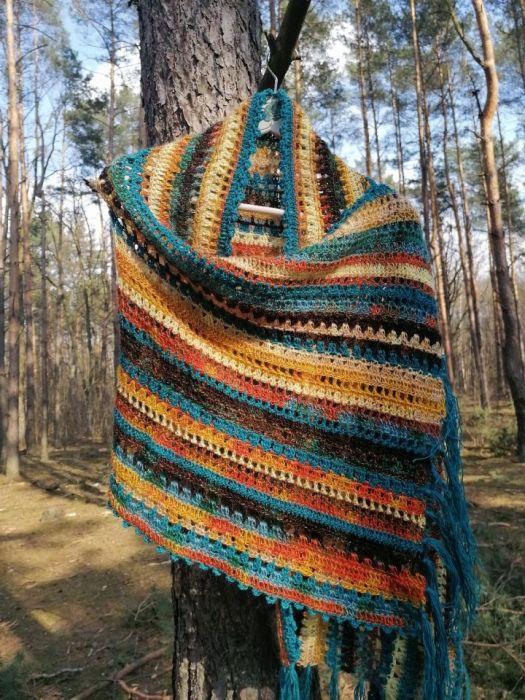 Navajo hippie boho obszerny szal -