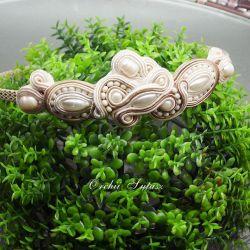 Opaska ślubna sutasz-stoik ślubny-perła