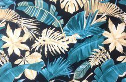 TKANINA BAWEŁNA Liście palmy wzór tropikalny