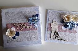 Kartka ślubna wraz z pudełkiem kwiaty Młoda