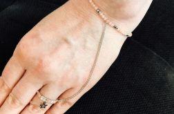Bransoletka z pierścionkiem - model 3