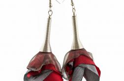 Kolczyki Silk czerwone stalowe