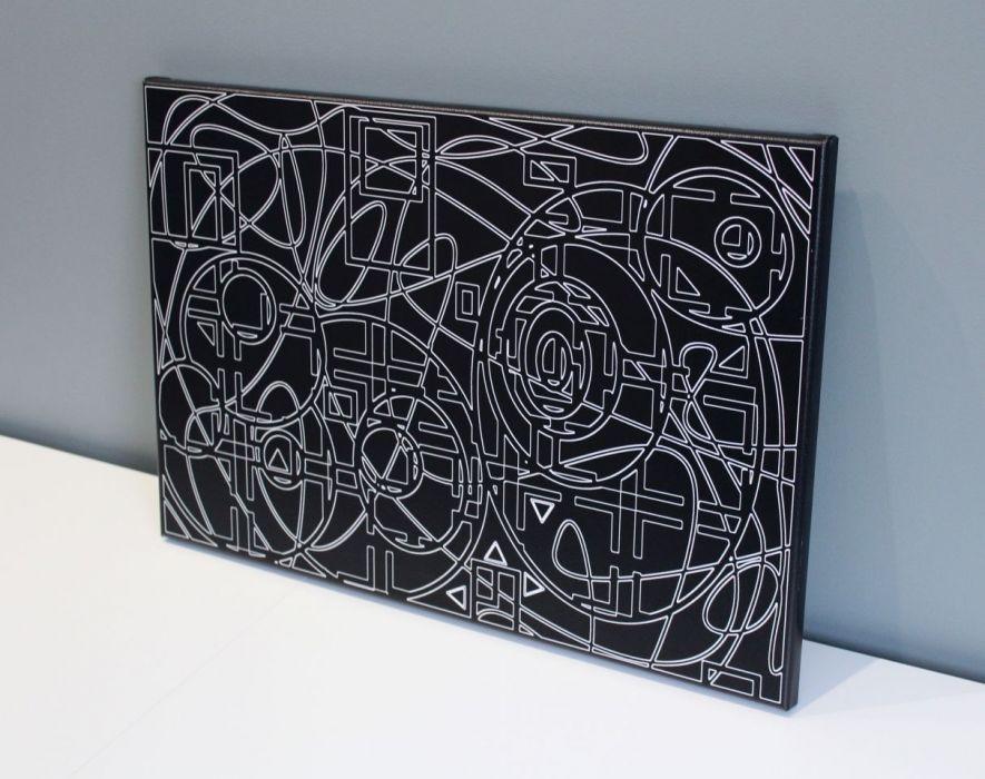 """Obraz """"wYOBRAŻAJ"""" wydruk na płótnie 40x60cm - Grafika silnie pobudza wyobraźnię."""
