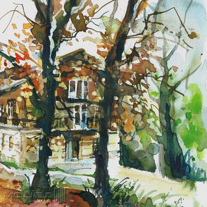 Jesienny dom - malowany