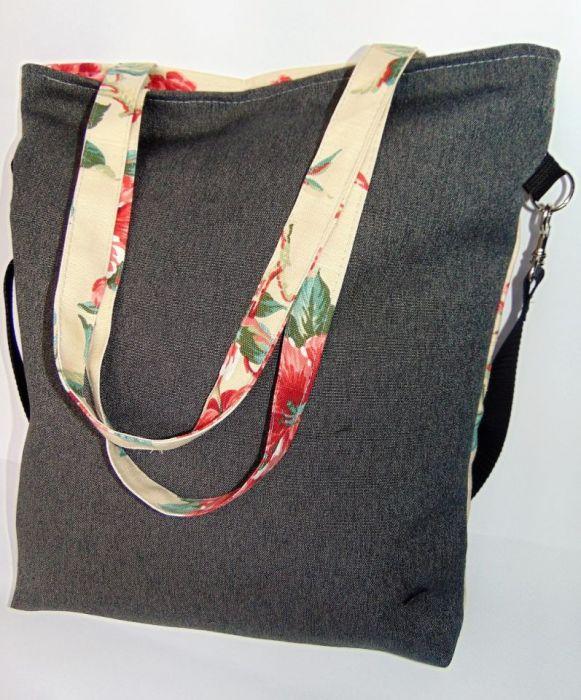 Torebka damska torba shopper kwiat