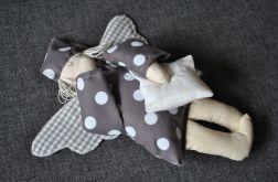 Zabawka tekstylna - Anioł Bartoszek w szarościach
