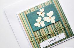 Kartka UNIWERSALNA kremowe kwiatki