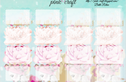 Half boxes planner stickers. Bath Relax