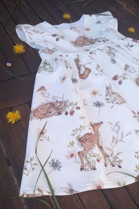 Sukienka Leśne zwierzątka 02