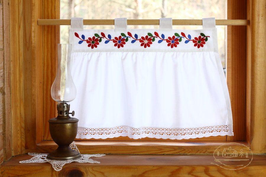 Zazdrostka z haftem łemkowskim - Z ozdobą