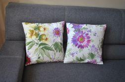 Poszewka - fioletowe kwiaty