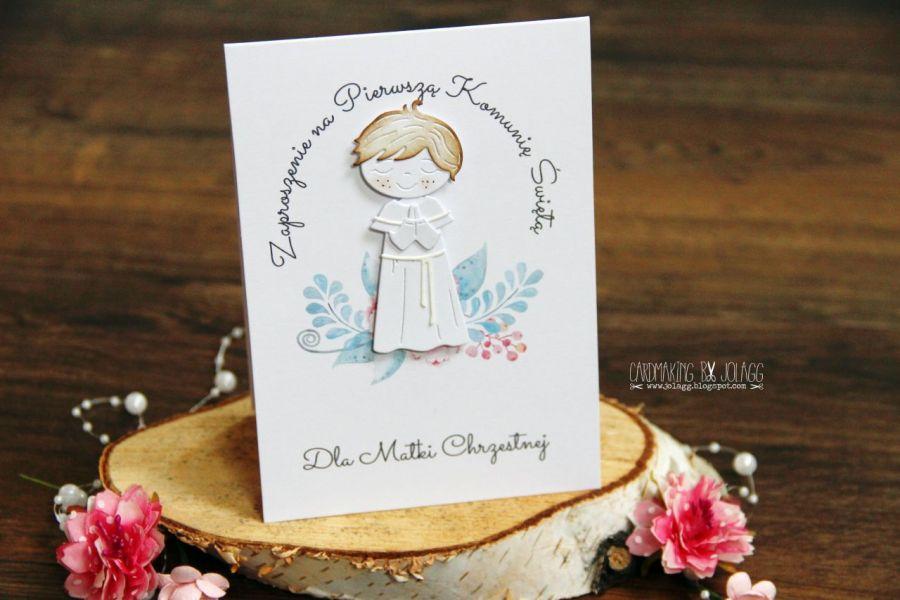 Zaproszenie Na Komunię Chłopiec1 Cardmaking By Jolagg