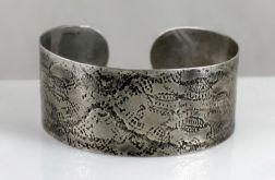 Metalowa bransoletka - koronka 130301-08