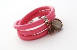 Shiny Glamour różowo-szara