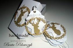 gold collection- the deer bileciki do prezentów