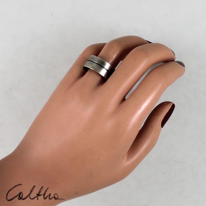 Metalowa obrączka - rozm. 21 - 150426-03 - Metalowy pierścionek