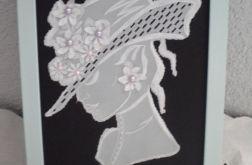 Obrazek- Dama w kapeluszu