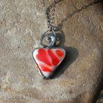 Serce w czerwieni i bieli - biało czerwone serce