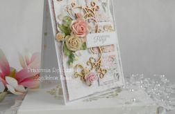 Ślubna kartka A6 w pudełku z okienkiem 01