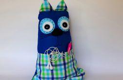 Kot ~ maskotka / poduszka z kieszonką / blue