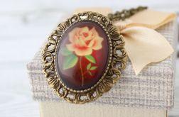Antyczna Róża Broszka - Wisior 2w1